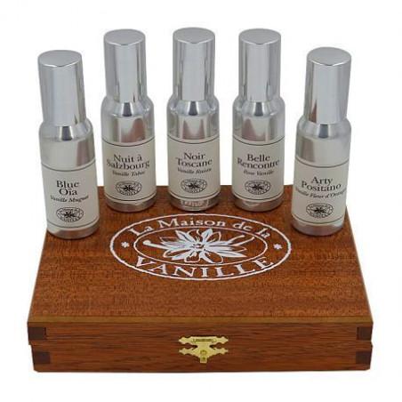 Luxury wooden coffret - 5x30ml - Continental Spirit